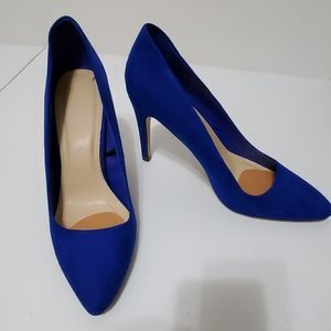 Suede blue forever 21 heels size 9
